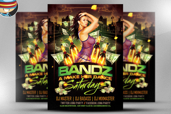 Bandz A Make Her Dance PSD Flyer