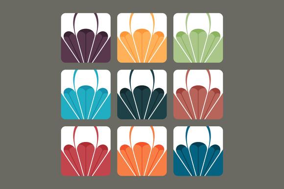 Set Of Paragliding Vectors In Colour
