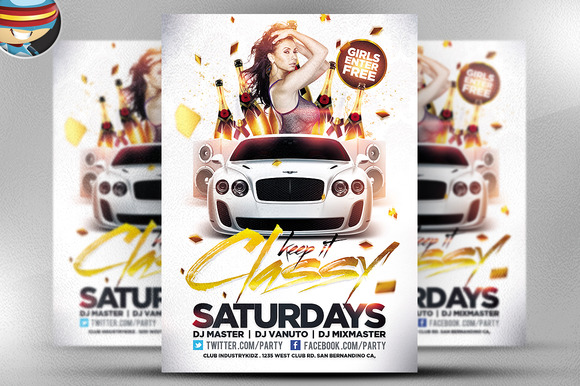 Keep It Classy PSD Flyer Template