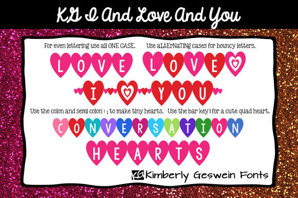KG I And Love And You Font