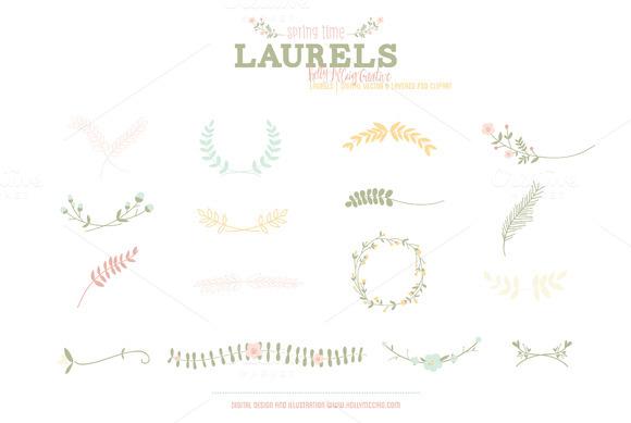 Laurels PSD Vector Clipart Spring