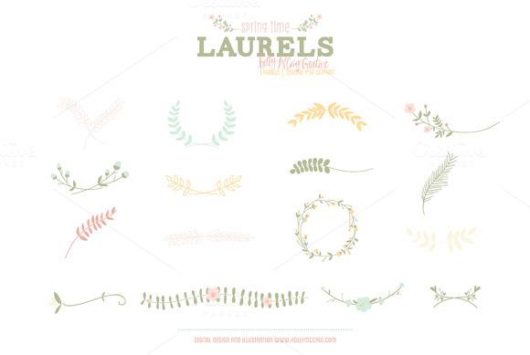 Laurels PNG Clip Art Spring Time