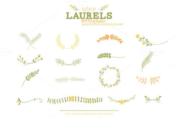 Laurels PNG Clip Art Buttercup
