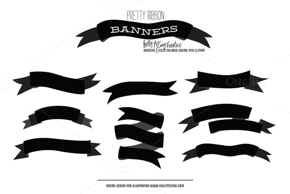 Ribbon Banner Photoshop Brushes