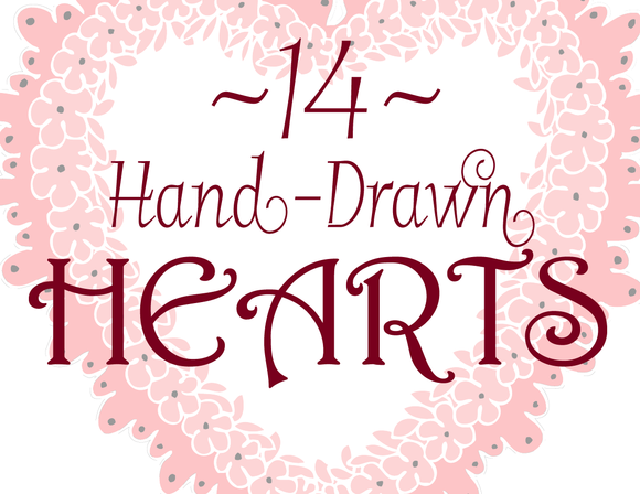 14 Hand-Drawn Hearts