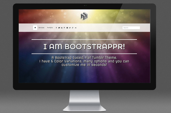 Bootstrappr Responsive Tumblr Theme