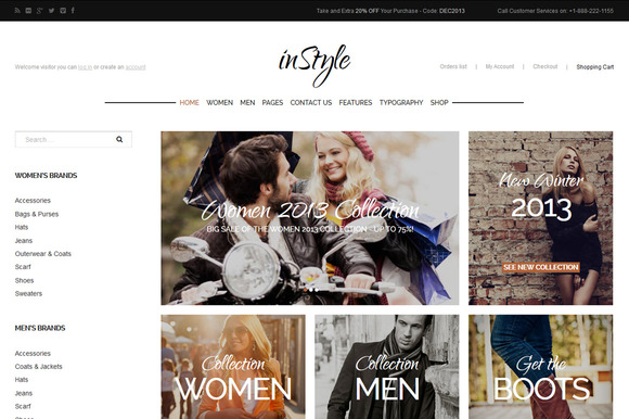 InStyle ECommerce WordPress Theme