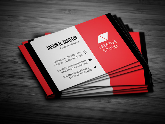Creative Red Business Card