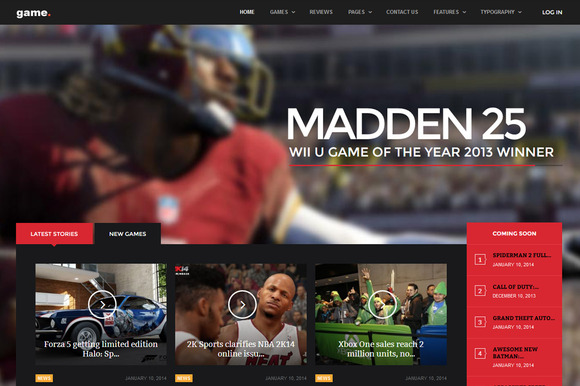 Game WordPress Gaming Theme