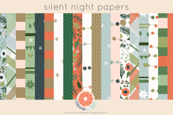 Holiday Digital Papers