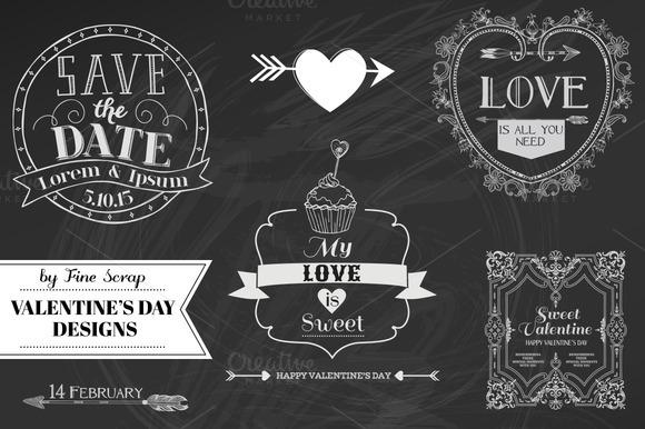 Set Of Valentine S Day Designs