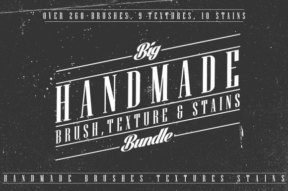260 Brushes Textures Stains Bundle