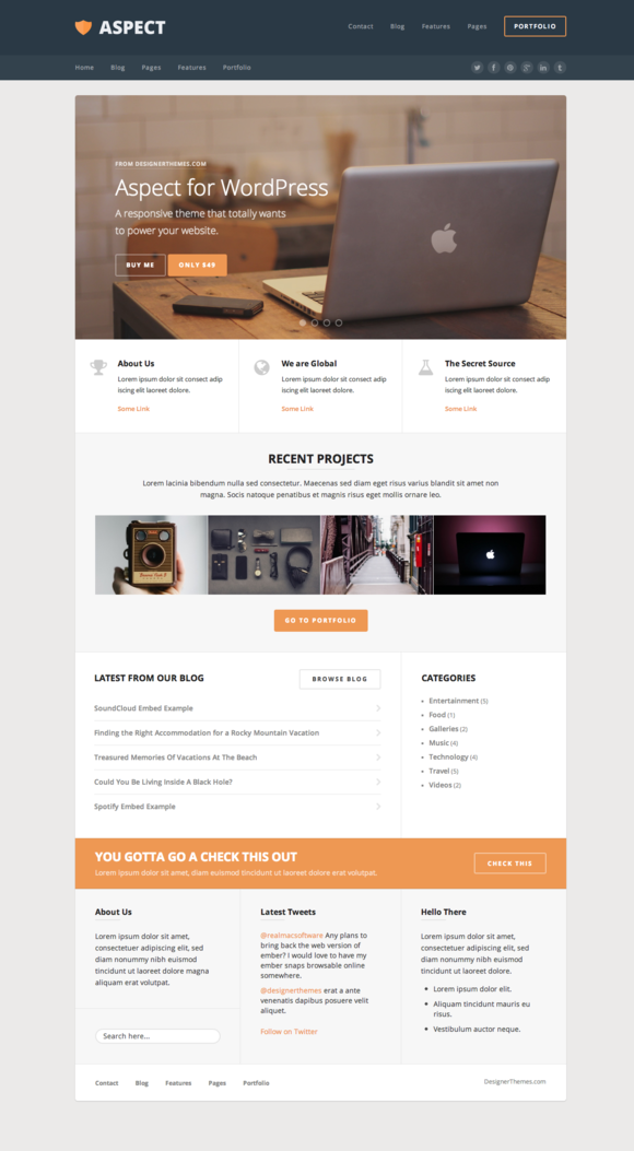 Aspect A Responsive WordPress Theme