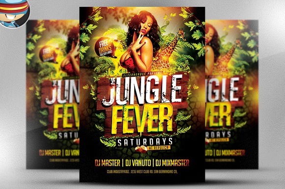 Jungle Fever PSD Flyer Template