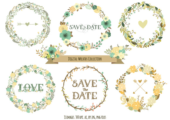 Digital Wreaths Collection