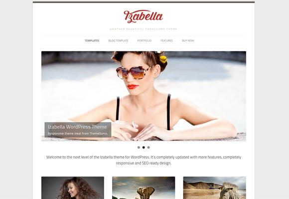 Izabella WordPress Theme