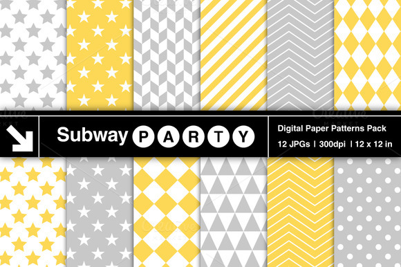 Gray Yellow Geometric Patterns