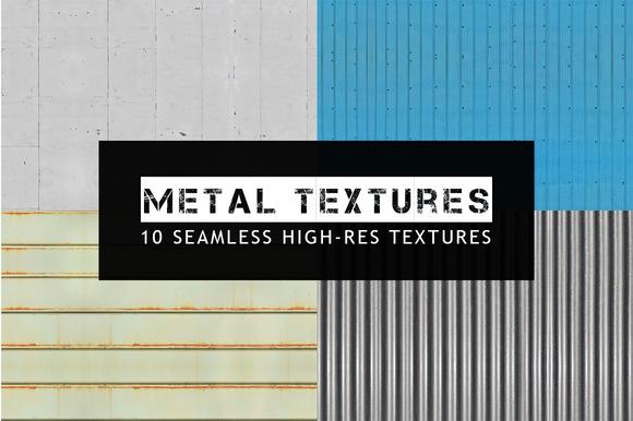 10 Seamless Metal Textures