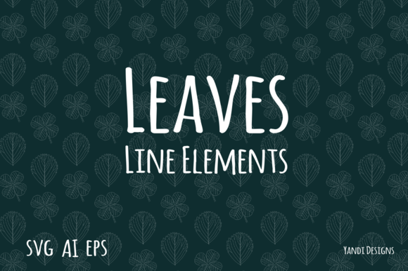 Leaves Line Elements