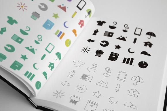 20 Flat Random Icons