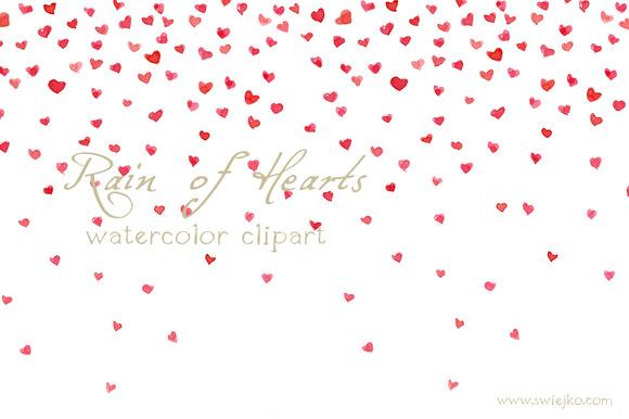 Watercolor Hearts Valentine S Day