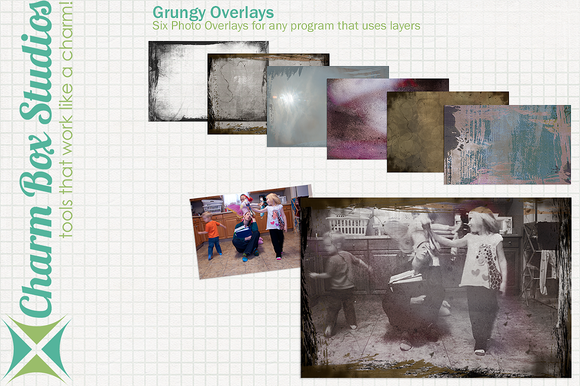 Grungy Photo Overlays