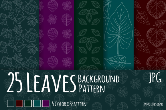 25 Leaves Background Pattern