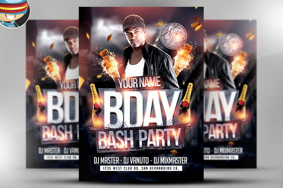 Bday Bash Flyer Template 2