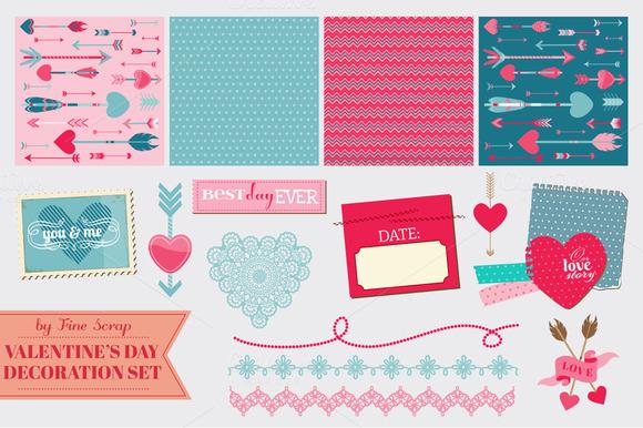 Big Set Of Valentine S Day Designs