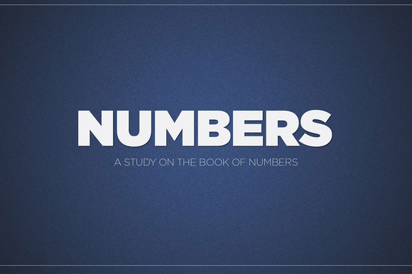 Numbers Sermon Title