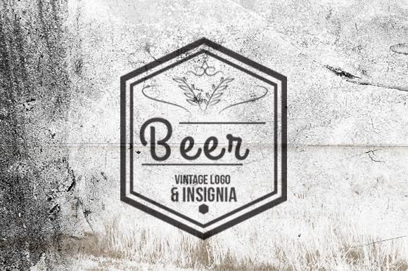 10 Beer Vintage Logo Insignia