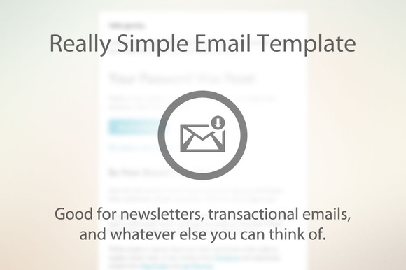 Simple Email Newsletter Template