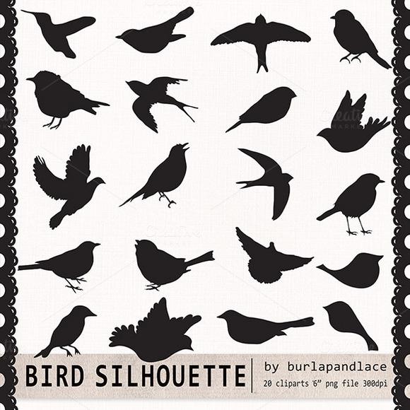 Clipart Bird Silhouette