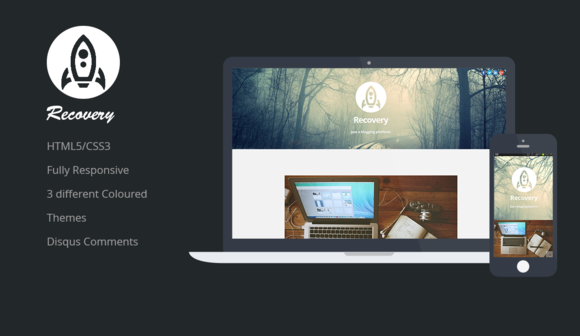 Recovery Responsive Ghost Theme