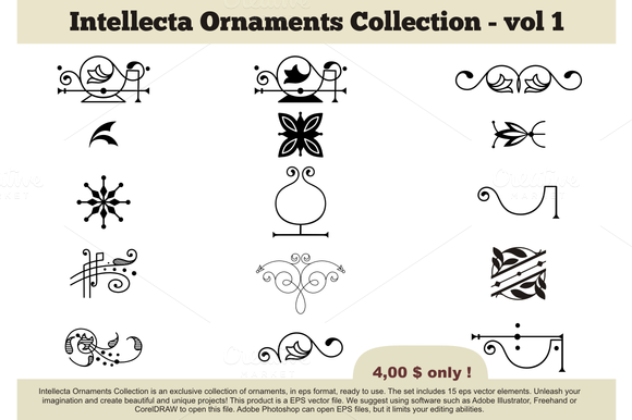 Intellecta Ornaments Collection 1