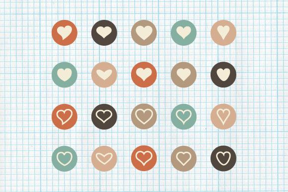 Flat Heart Icons