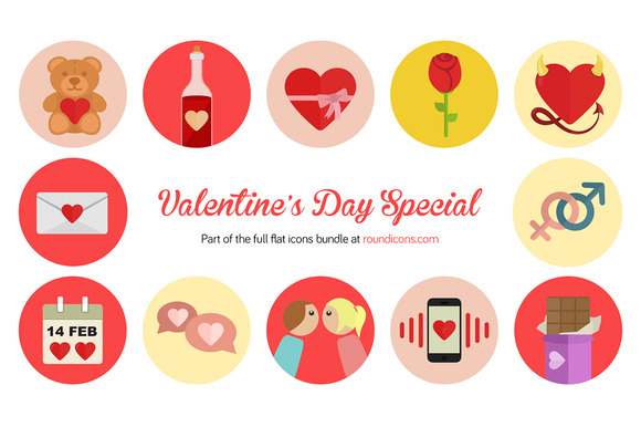 Valentine S Day Flat Icons
