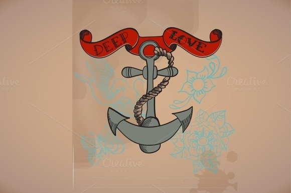 Background With Anchor