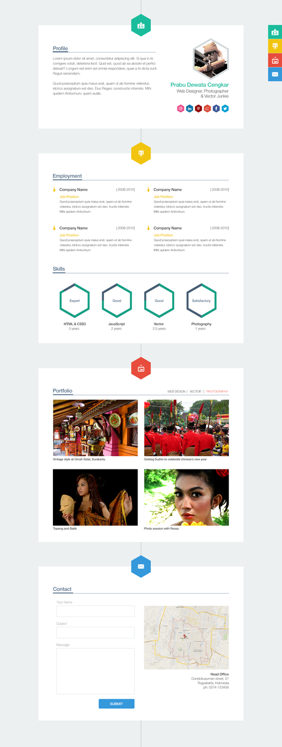 Polystring Creative One-Page PSD