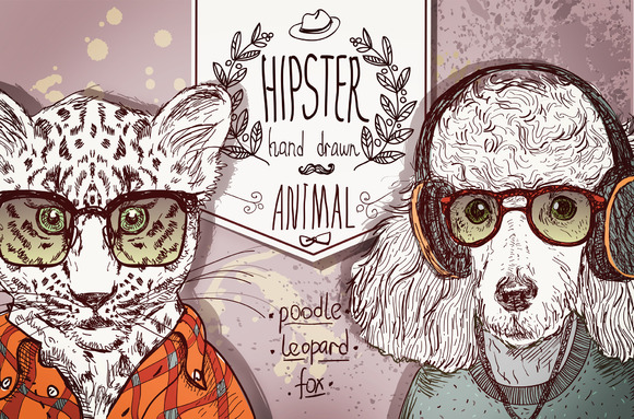 Hipster Animals Set 1