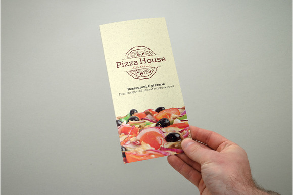 Trifold Pizza Menu Flyer