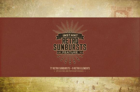 Instant Featured 77Retro Sunbursts