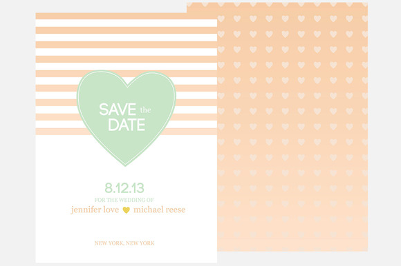 Peach Heart Save The Date