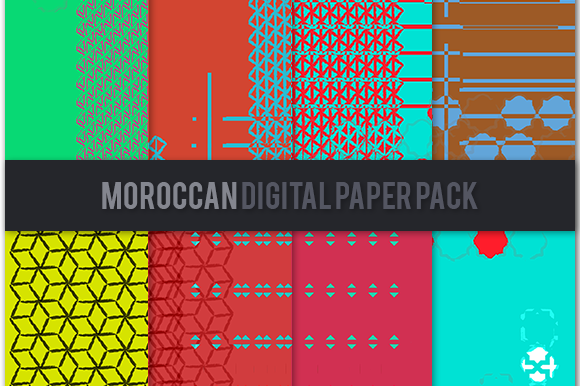 Moroccan Digital Paper Pack