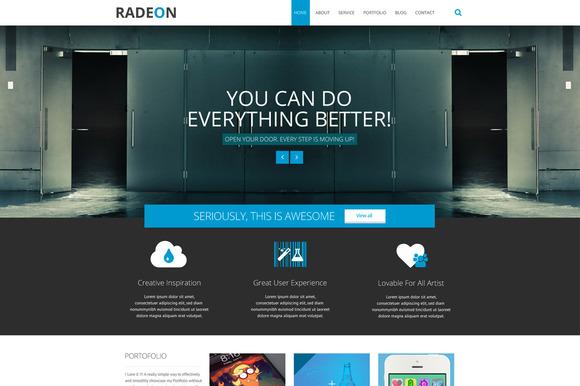 RADEON Multi-purpose PSD Template