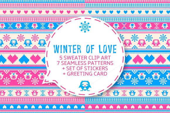 Winter Of Love Vector Set