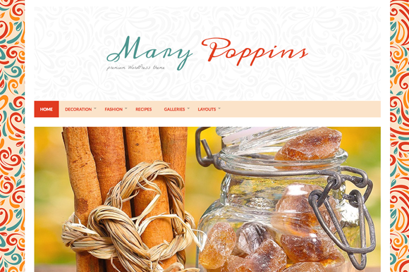 Mary Poppins Blogging Theme