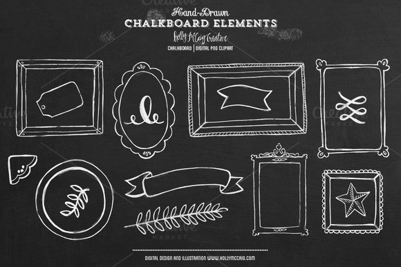 Chalkboard PNG Clipart Elements