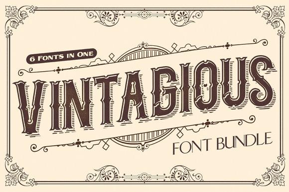 Vintagious Font Bundle 70%OFF