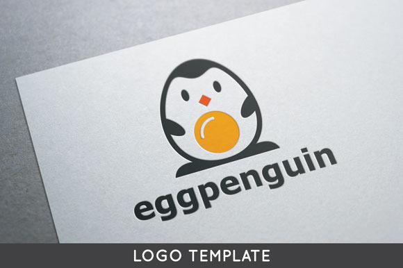 Egg Penguin Logo